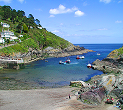 Willy Wilcox Cornwall Holiday Cottage Sea Views, Harbour and Beach - Low tide